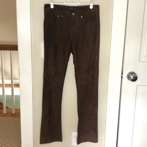 Brown suede Ralph Lauren pants size 2